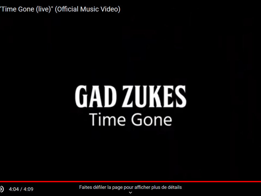gad zuckes time gone