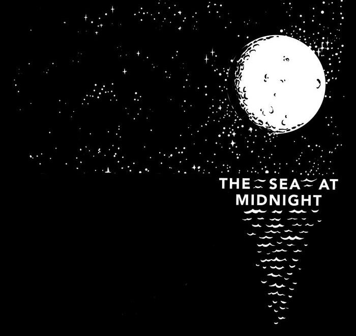 the sea at midnight